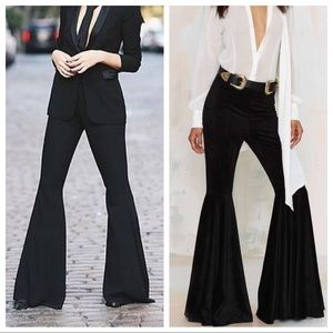 Pants - Black gorgeous wide leg bell pants
